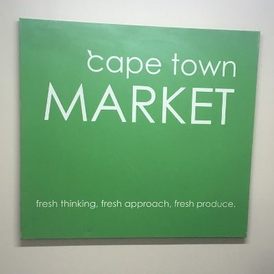 Photo of Cape Town Market sign