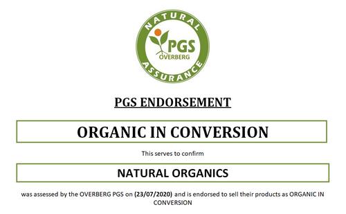 PGS endorsement for Naturally Organic